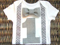 Boys First Birthday Outfit - Baby Boy Clothes - Grey Chevron  Birthday Number Onesie - 1st Birthday - Birthday Bow Tie - Carnival Birthday on Etsy, $23.99