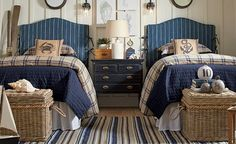 Get inspired by Coastal Kids Bedroom Design photo by Birch Lane. Wayfair lets you find the designer products in the photo and get ideas from thousands of other Coastal Kids Bedroom Design photos. Bedroom Photos, Home Bedroom, Bedroom Decor, Nautical Bedroom, Kids Bedroom, Bedroom Shelves, Bedroom Modern, Master Bedroom, Bedroom Images