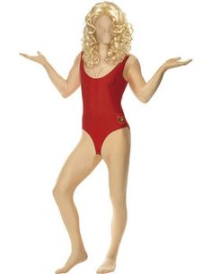 This Second Skin Baywatch Babe Second Skin Costume Includes second skin suit and bum bag.