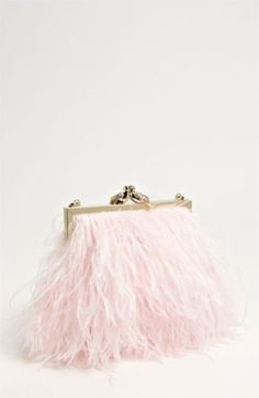 Pink Feather Clutch