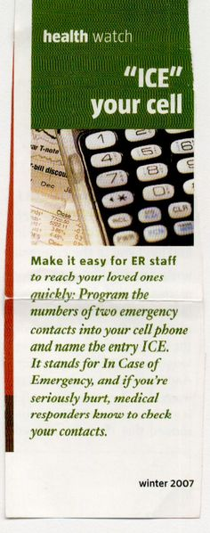 #InCaseofEmergency, ICE your phone  #DIY