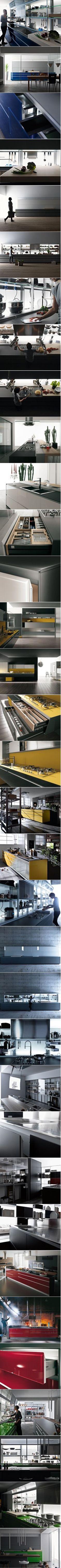 VALCUCINE ARTEMATICA VITRUM Cocina Integral De Vidrio Diseño De Gabriele  Centazzo