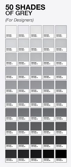 50 Shades Of Grey For Designers By Pantone Paint Colour