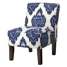 Patterned Chair - Cobalt Blue - Target