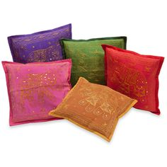 Decorative Pillow Covers Embroidered with Elephants (India) Elephant India, Arabian Decor, All About Elephants, Online Bedding Stores, Formal Living Rooms, Decorative Pillow Covers, Persian Rug, Bedroom Ideas, Romantic
