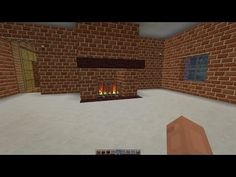 Minecraft 1.8.8 Creative  How To Build A Working Fireplace