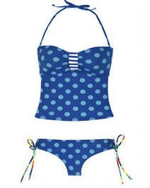 Banded Tankini & Tie Side Hipster   Banded Tankini