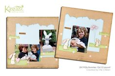 This project sheet will show you how to create a sweet double layout using papers and stamps from the Baby Milestones collection. Scrapbook Page Layouts, Scrapbooking Ideas, Scrapbook Pages, Animal Cards, Baby Milestones, Bunnies, Finding Yourself, Workshop, Map