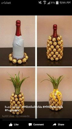 Botella en forma de piña