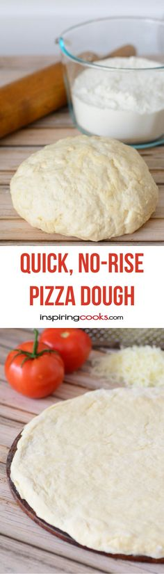 I love how this pizza dough comes together fast since you don't have to wait for it to rise - and it's light and easy to make.