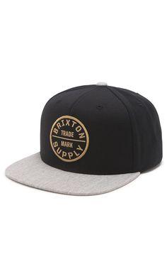 Brixton Oath III Snapback Hat ($30.00) (https://www.areamart.com/product/brixton-mens-oath-iii-snapback-hat/)