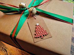 árbol de Navidad regalo etiquetas kraft Navidad por oscarandollie