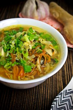 Zupa miso z tofu i kapustą pekińską Tofu, Winter Soups, Miso Soup, Healthy Cooking, Ramen, Food And Drink, Dinner, Ethnic Recipes, Fit Meals