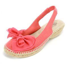 Slingback Bow Sandal.