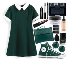 """""""Untitled #28"""" by dreaming-wonderland ❤ liked on Polyvore featuring Oasis, Converse, T Tahari, Butter London, Bobbi Brown Cosmetics, NARS Cosmetics, MAC Cosmetics, Monki and beautyblender"""