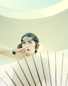 Beauty with parasol