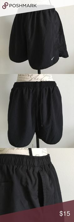 "Nike shorts Nike shorts, with adjustable drawstring, side pockets and a rear pocket. Inseam approx. 4"" Nike Shorts"