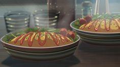 """オムライス - From 言の葉の庭 (""""The Garden of Words"""") Omurice, The Garden Of Words, Anime Scenery, Food Illustrations, Cute Food, Japanese Food, Food Art, Food Videos, Food Inspiration"""