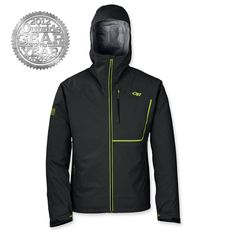 Seems like its about time to pick up OR's new Axiom jacket. Its been cleaning up gear awards, including honors from National Geographic and Outside Magazine. Ski Gear, Hiking Gear, Outside Magazine, Outdoor Research, Cool Gear, Outdoor Outfit, Gore Tex, Nike Jacket, Gears