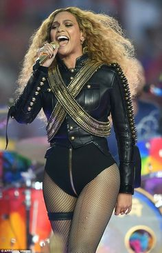 Curves ahoy: Beyonce, pictured performing at the Super Bowl in February, is renowned for her curves and shapely thighs