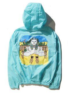 Men's Ripndip Pray Lord Nermal The Pyramid Sun Fashion Summer Sunproof Yeezy Palace Jacket