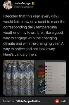 Knitting the Weather - FunSubstance Knitting Projects, Crochet Projects, Knitting Patterns, Sewing Projects, Craft Projects, Projects To Try, Crochet Patterns, Cute Crafts, Crafts To Do