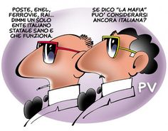 #IoSeguoItalianComics #Satira #Politica #Enel #Rai #poste #ferrovie #mafia