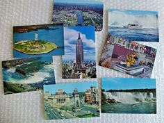 nEW YORK VINTAGE POSTCARD JUNK DRAWER LOT CITY LANDMARKS NIAGRA FALLS  neocurio #ebay #neocurio #newyork #postcard