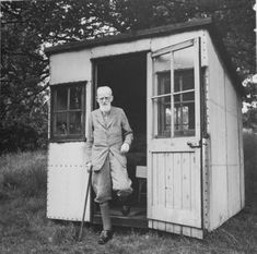 "George Bernard Shaw's writing hut, dubbed ""London"" so his staff wouldn't be lying when they said he had ""gone to London."""