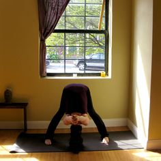 Yoga for back pain - one of my favorite postures to relieve the pain in-between your shoulder blades.