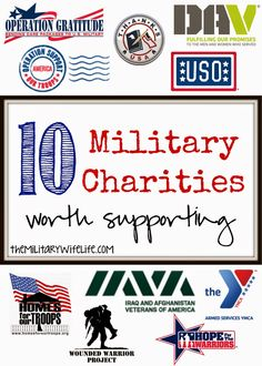 10 Military Charities Worth Supporting - The Military Wife Life Military Love, Military Spouse, Airforce Wife, Support Our Troops, Army Life, Helping Others, Gratitude, America, Country