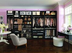 love these colors for a huge girlie closet