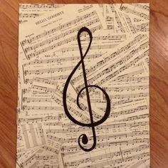 Made this today with a thin canvas, sheet music, Elmer's glue and a sharpie... Very easy quick craft....