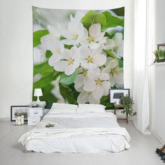 Blue flowers nature tapestry, Forgot me not photography, Floral wall tapestry for room decoration or photo backdrop. Photo Tapestry, Tapestry Nature, Tapestry Design, Blue Flower Photos, Blue Flowers, Flowers Nature, Tree Wall Art, Wall Art Decor, Floral Wall