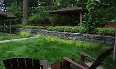 """A no-mow festuca rubra grass was seeded in topsoil on top of six inches of sand for drainage. Two months later, it was a dense lawn. """"Every ..."""