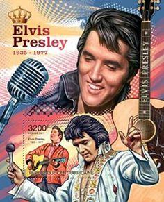 Central Africa - 2014 Elvis Presley - Stamp Souvenir Sheet 3H-108