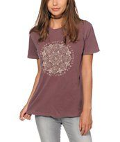Obey Force To Change Burgundy T-Shirt
