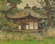 高島野十郎「山中孤堂」(1953)