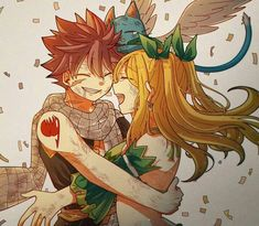 Nalu She looks like leafa from SAO Fairy Tail Lucy, Fairy Tail Nalu, Fairy Tale Anime, Fairy Tail Family, Fairy Tail Guild, Fairy Tail Couples, Fairy Tail Ships, Fairy Tales, Girls Anime