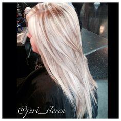 I want blonde blonde hair with light carmel cream highlights <3