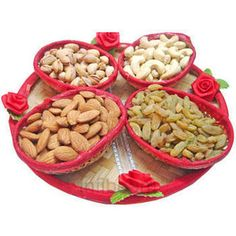 It is a known fact that dry fruits and nuts are packed with essential nutrients. They are an abundant source of proteins, vitamins, minerals and dietary fiber. So, whenever you are planing to gift someone the dry fruits are the best and healthy option to select. Shop fresh collection of dry fruit gift hampers and dried fruit baskets with price offers at Infibeam. Diy Decoration, Wedding Decoration, Dry Fruit Basket, Engagement Gift Baskets, Rakhi Making, Fruit Packaging, Wedding Gift Wrapping, Fruit Gifts, Select Shop