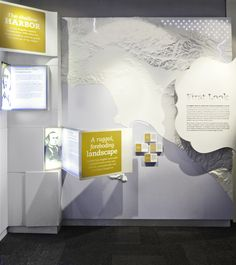 Dynamic wall - interesting use of light boxes Exhibition Display, Exhibition Space, Museum Exhibition, Display Design, Booth Design, Wall Design, Environmental Graphics, Environmental Design, Web Banner Design