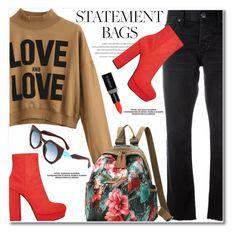 Carry On: Statement Bags by svijetlana on Polyvore featuring moda, Current/Elliott, Prada, Smashbox, statementbags and zaful