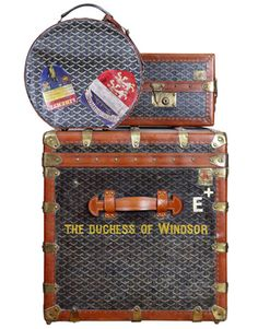 The Duchess of Windsor's Royal Style  The duchess's original Goyard luggage.