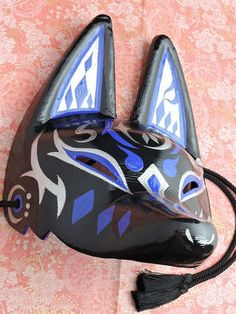 Japanese Fox Mask, Kitsune Mask, Steampunk Mask, Cool Masks, Cat Mask, Drawing Poses, Pastel Goth, Faeries, Costume