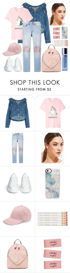 """Young God -  Halsey"" by decimaollin ❤ liked on Polyvore featuring Balenciaga, Bliss and Mischief, Robert Clergerie, Casetify, T-shirt & Jeans and Thierry Mugler"