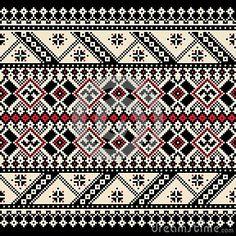 Folk Embroidery Patterns Vector illustration of ukrainian seamless pattern ornament - Cross Stitch Borders, Crochet Borders, Cross Stitch Charts, Cross Stitch Designs, Cross Stitching, Cross Stitch Patterns, Filet Crochet, Folk Embroidery, Cross Stitch Embroidery