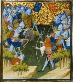 Battle of Crécy,26.08.1346,миниат.15в.