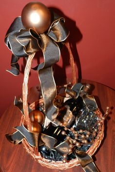 GIFT BASKET:  All copper and wine.  At Market Alley Wines.