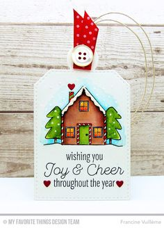 Trim the Tree, Winter Wonderland, Tag Builder Blueprints 4 Die-namics - Francine Vuillème  #mftstamps